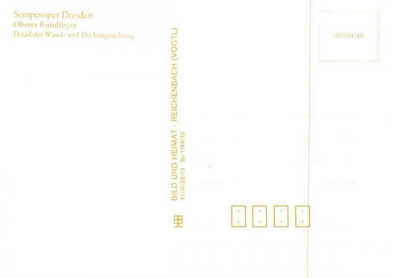 Semperoper Dresden Oberes Rundfoyer, Detail Der Wand Und Deckengestaltung