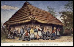 Germany Austria WWI Occupied Poland Dorf Eastern Front Patriotic Gloria Vi 66248
