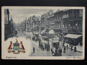 Yorkshire: Leeds, Briggate c1905 by Reliable Seires