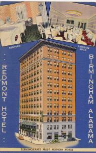 Bedroom & Raimbow Room, Redmont Hotel, Birmingham's Most Mosern Hotel, Alabam...