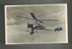 Spain Mint RPPC Postcard Autogyro Helicopter Plane Real Photograph