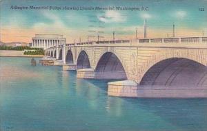 Washington DC Arlington Memorial Bridge Showing Lincoln Memorial