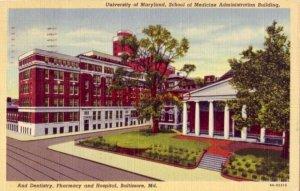 1945 UNIVERSITY OF MARYLAND, SCHOOL OF MEDICINE ADMINISTRATION BLDG, BALTIMORE