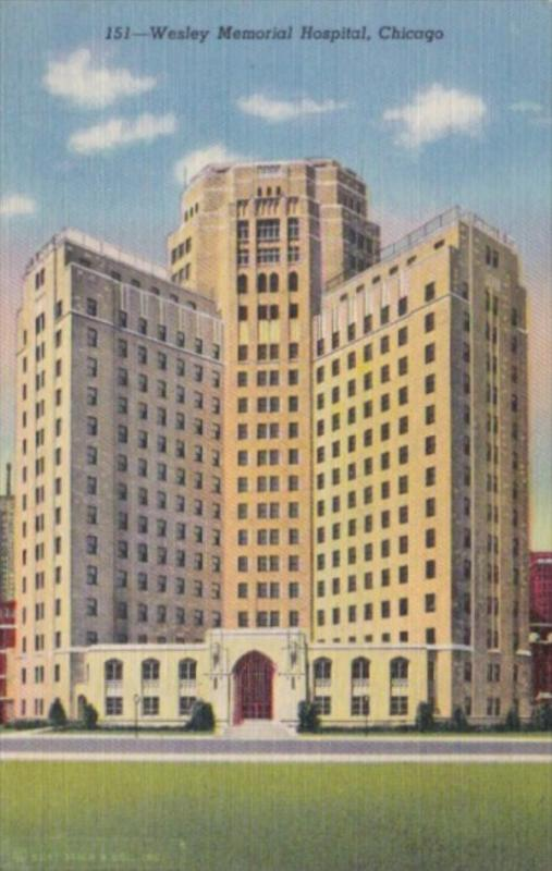 Illinois Chicago Wesley Memorial Hospital Curteich