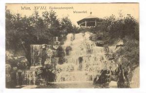 Wien, XVIII, Turkenschanzpark, Wasserfall, Austria, PU-1911