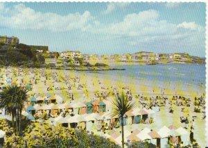 Cornwall Postcard - Porthminster Beach, St Ives - Real Colour Photo - Ref TZ2317