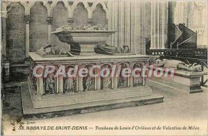Postcard Abbey of Saint Denis Tomb of Louis d'Orleans and Valentine of Milan