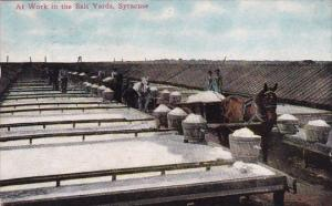 New York Syracuse At Work In The Salt Yards 1911