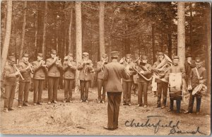 RPPC Real Photo Chesterfield Band, Chesterfield MA c1913 Vintage Postcard U11