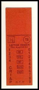 Vintage Chicago Rock Island & Pacific Railroad/RR Ticket,...