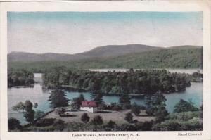 New Hampshire Meredith Center Lake Wicwas Panorama
