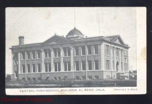 EL RENO OKLAHOMA CENTRAL HIGH SCHOOL BUILDING ANTIQUE VINTAGE POSTCARD