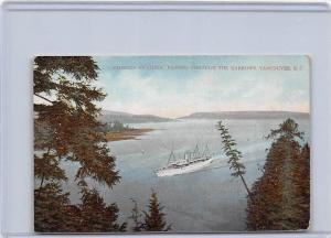 5066  B.C. Vancouver 1915  Empress of China passing thru the Narrows