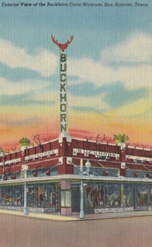 SAN ANTONIO, Texas, 1930-40s; Exterior view of the Buckhorn Curio Museum