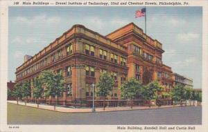 Pennsylvania Philadelphia Main Buildings Drexel Institute Of Technology Curteich