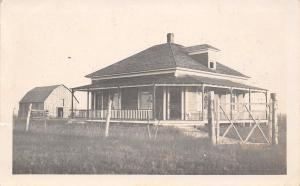 Sioux Falls South Dakota Postmark~Farm House~Barn~Cross Country Picnic~1910 RPPC