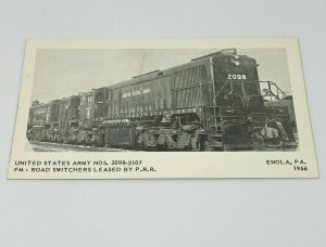 United States Army NOS 2098-2107 FM Rd Switchers Leased By Prr Enola Pa 1956