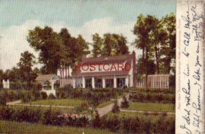 pre-1907 REAR VIEW INNISCARRA SARATOGA HOME OF CHAUNCEY OLCOTT 1906