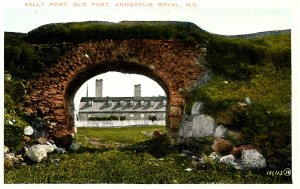Canada - Nova Scotia, Annapolis Royal. Old Fort, Sally Port