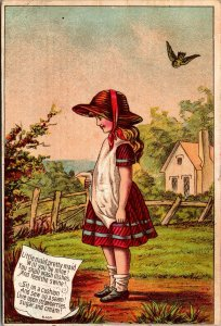 Old Trade Card - BLANK - Store Little Maid Garden - VICTORIAN