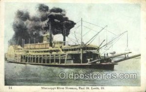 Mississippi River Steamer Ferry Boat, Ferries, Ship St. Louis, Illinois USA 1...