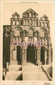 Old Postcard Puy Cathedrale Haute Loire Picturesque