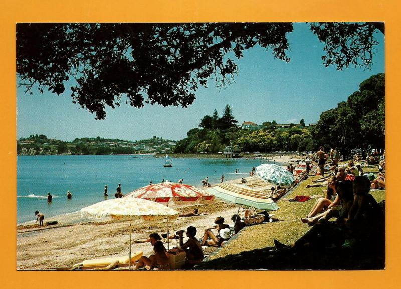 NEW ZEALAND POSTCARD KOHIMARAMA BEACH-AUCKLAND