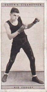 Ogdens Vintage Cigarette Card Pugilists In Action 1928 No 17 Kid Froggy