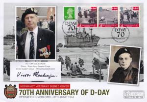 Victor Mackenzie Desert Rats 7th Armoured Division D-Day Hand Signed FDC
