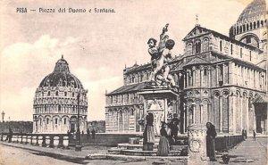 Pisa Piazza del Duomo e Fontana Italy Unused