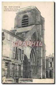 Old Postcard Saint Dizier L & # 39Eglise Notre Dame