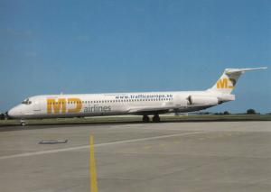 MD AIRLINES, MD-83, unused Postcard