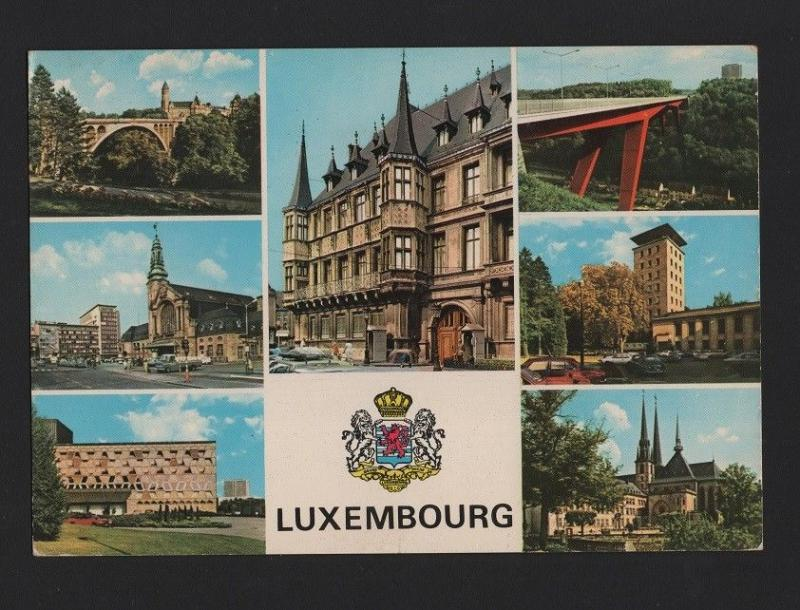 POSTCARD  1960 years LUXEMBOURG multi views