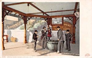 SHASTA SPRINGS CALIFORNIA~SPRING HOUSE POSTCARD 1900s