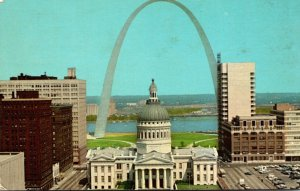Missouri St Louis Gateway Arch and Old Court House 1969