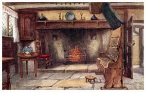 21644  Stratford-Upon-Avon   Anne  Hathaway's Cottage  Chimmney Corner