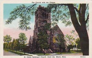 Michigan Marie The Church With The Chimes Saint James Episcopal Church Sault ...
