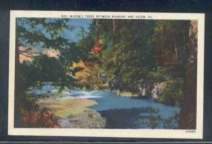 Virginia postcard Mason's Creek Roanoke Salem