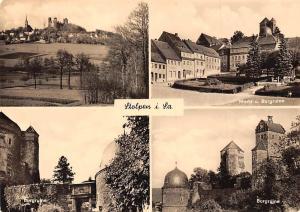 Stolpen im Sachsen Burgruine, Markt Castle Ruins Panorama