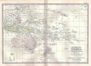 VINTAGE MAP Oceanica c1897 from Century Atlas