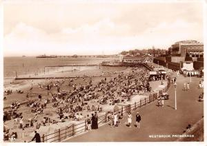 Westbrook Promenade, Animated, Pier, Beach, Plage, Real Photograph