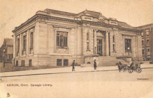 Akron Ohio~Carnegie Public Library~Market St Law Offices~Horse Buggy~1905 TUCK