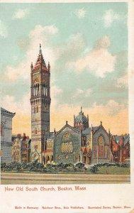 Boston MA New Old South Church Reichner Bros. Copper Windows Postcard