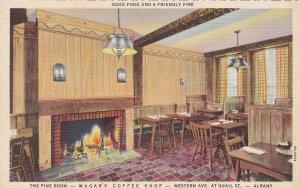 New York Albany Wagar's Coffee Shop Pine Room Curteich sk6217