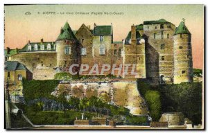 Old Postcard Dieppe old castles (north west fa?ade)