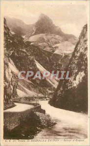 Postcard Old Route Bedous has Urdos Gorge of Esquil