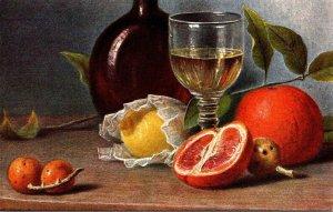 Painting Still Life Orange and Lemon