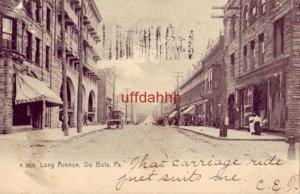 pre-1907 LONG AVENUE, Du BOIS, PA 190?