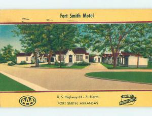 Linen FORT SMITH MOTEL Fort Smith Arkansas AR M6289
