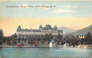 Lake George New York~Fort William Henry Hotel~Buildings by Lake~c1910 Postcard